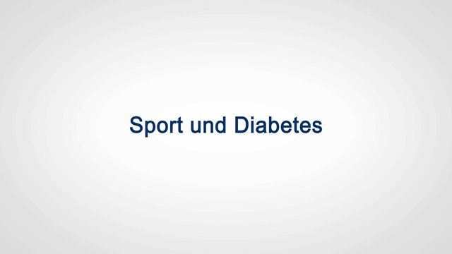Mythos: Diabetes und Sport