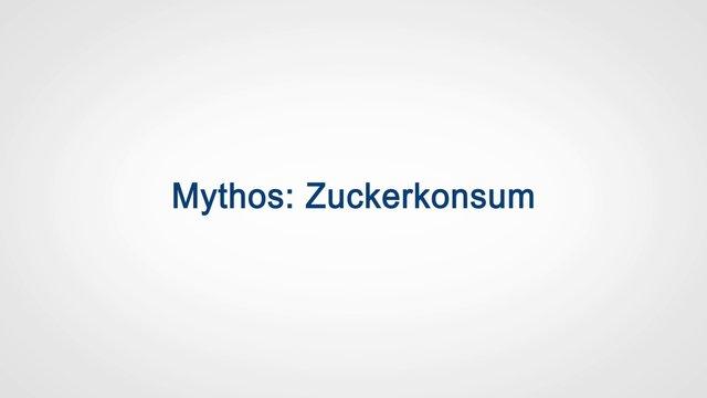 Mythos: Zuckerkonsum